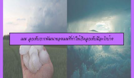 เมฆ ลูกเห็บการพัฒนาของเมฆที่ทำให้เกิดลูกเห็บมีอะไรบ้าง